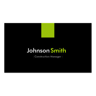 Construction Manager Modern Mint Green Double-Sided Standard Business Cards (Pack Of 100)