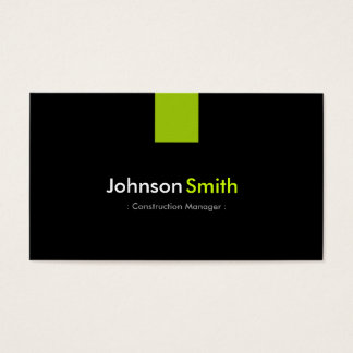 Construction Manager Modern Mint Green Business Card