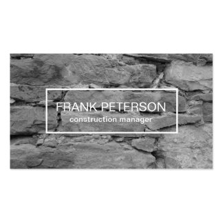 Construction Manager Pack Of Standard Business Cards
