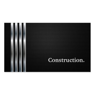 Construction Manager Professional Black Silver Pack Of Standard Business Cards