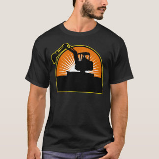 construction mechanical digger excavator T-Shirt