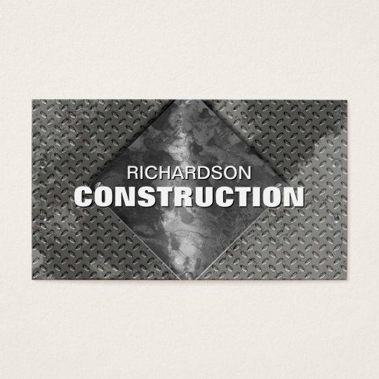 Construction Metal Business Card - Grey Silver