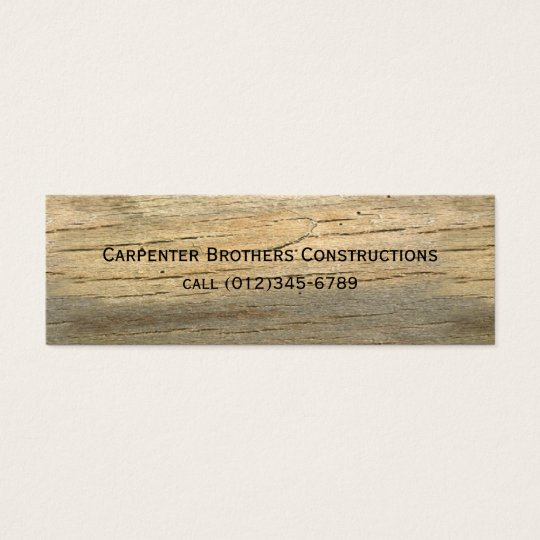 construction mini business card