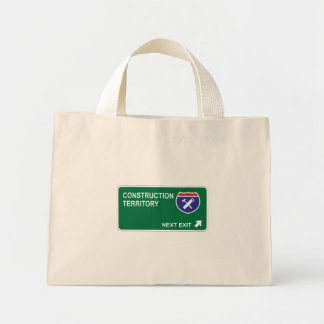 Construction Next Exit Tote Bags