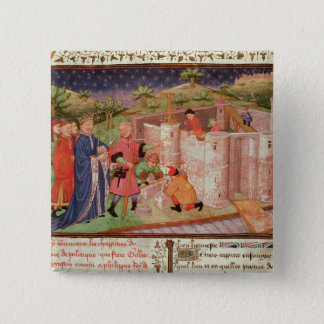 Construction of a Castle 15 Cm Square Badge