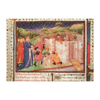 Construction of a Castle Canvas Print