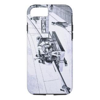 Construction of Brooklyn Bridge, New York (litho) iPhone 7 Case