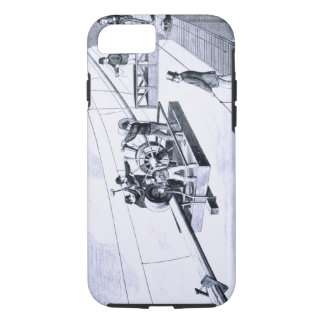 Construction of Brooklyn Bridge, New York (litho) iPhone 8/7 Case
