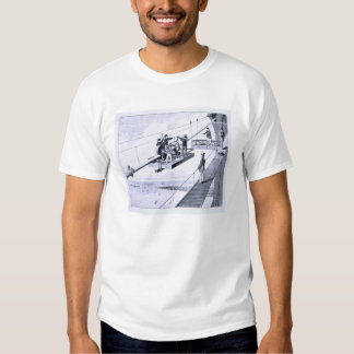 Construction of Brooklyn Bridge, New York (litho) Tshirts