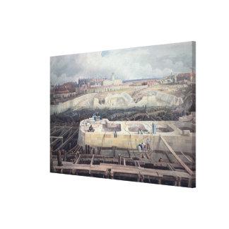 Construction of Docks Canvas Print