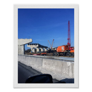 Construction of Interstate 95 Poster