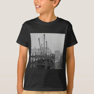 Construction of One Times Square New York City Tee Shirts