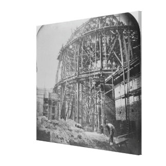 Construction of the British Museum Reading Canvas Print