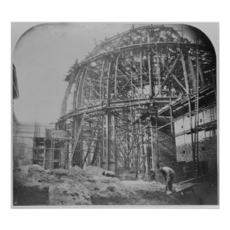 Construction of the British Museum Reading Poster