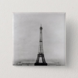 Construction of the Eiffel Tower 15 Cm Square Badge