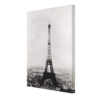 Construction of the Eiffel Tower Canvas Prints