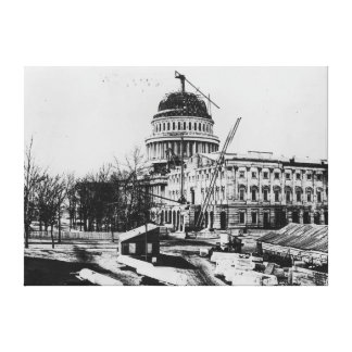 Construction of the U.S. Capitol Dome Gallery Wrapped Canvas