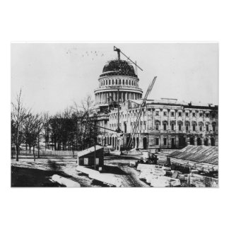 Construction of the U S Capitol Dome Personalized Announcements