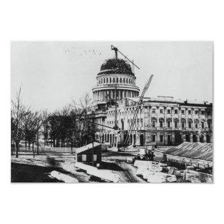 Construction of the U.S. Capitol Dome 3.5x5 Paper Invitation Card
