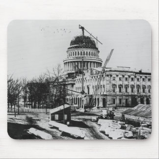 Construction of the U.S. Capitol Dome Mouse Pad