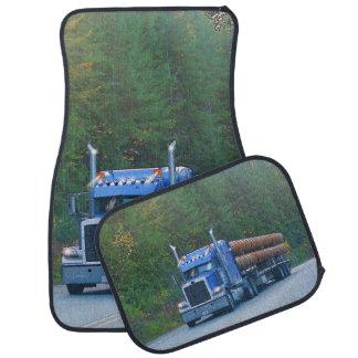 Construction Pipe Truck, Cistern Lorry Trucker Art Floor Mat