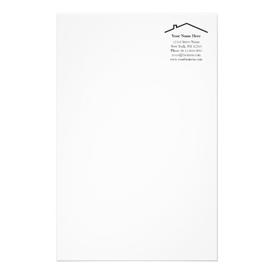 Construction real etstate company stationery paper