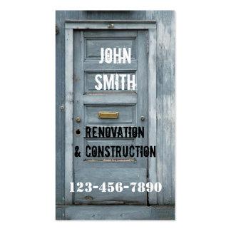 Construction Renovation Carpenter Business Card