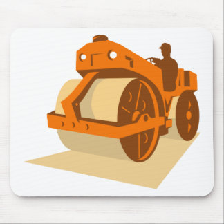 construction road roller retro mouse mat