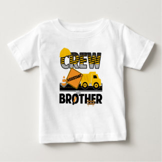 Construction Sibling Shirt, Dump Truck Birthday Baby T-Shirt