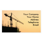 Construction Site at Sunset Business Cards