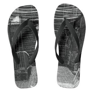 Construction Site Photograph On Flip flops