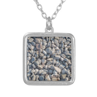 construction stones in the quarry silver plated necklace
