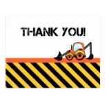 Construction Thank You Cards Postcard