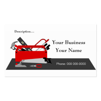 Construction Tool Box Business Card Template 2