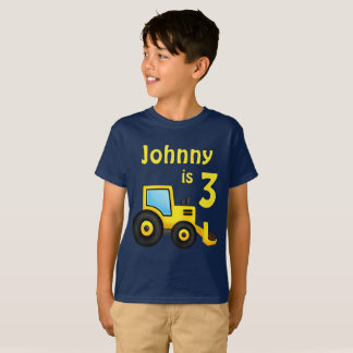 Construction Truck Birthday T-Shirt
