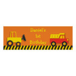 Construction Truck Personalised Banner Sign