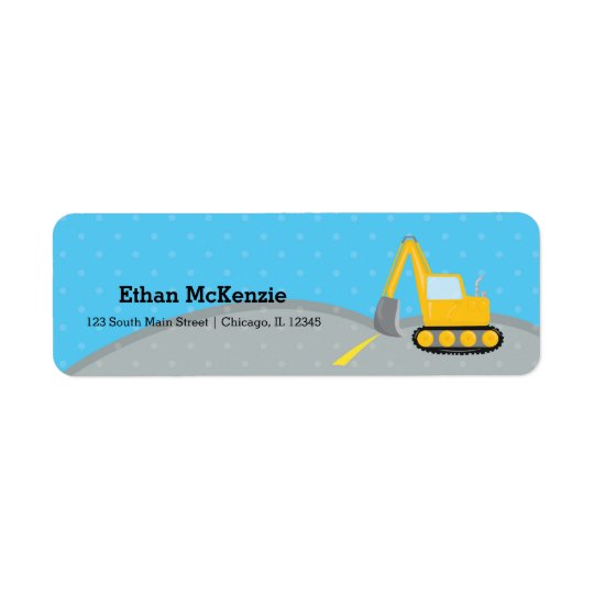 Construction truck return address label