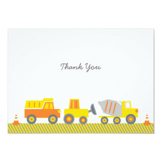 Construction Truck Thank You Cards 13 Cm X 18 Cm Invitation Card