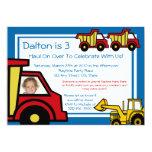 Construction Trucks/ Photo Custom Invite