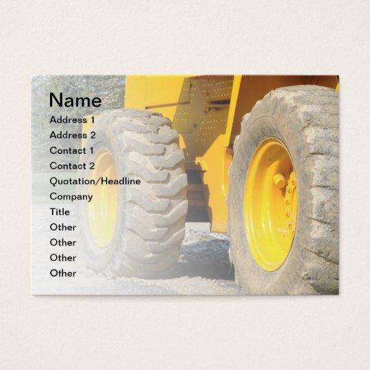 construction vehicle business card