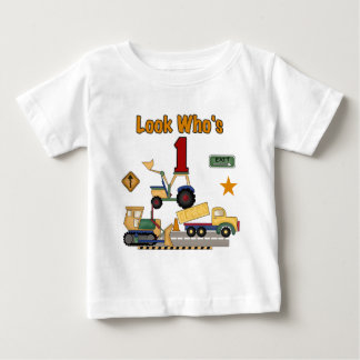Construction Vehicles 1st Birthday Tshirts