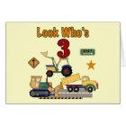 Construction Vehicles 3rd Birthday Tshirts Card