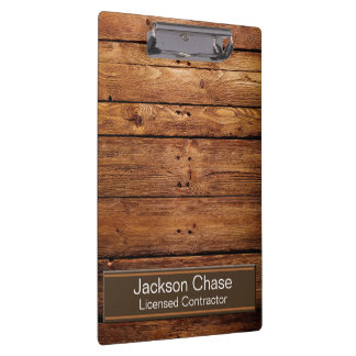 Construction Wood Grain Clipboard