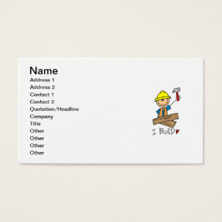 Construction Worker I Build T-shirts and Gifts Business Card