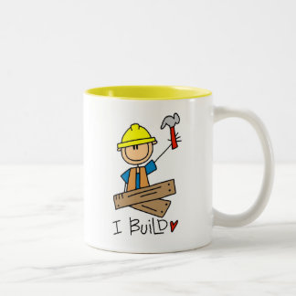 Construction Worker I Build T-shirts and Gifts Two-Tone Mug