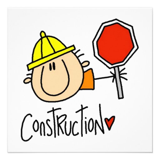 Construction Worker Personalized Invites
