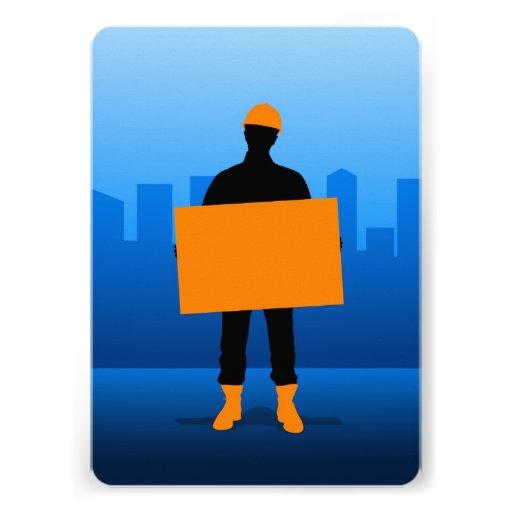 Construction Worker Announcement