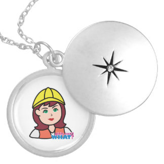 Construction Worker Personalized Necklace