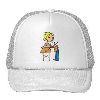 Construction Worker Sawing Board Trucker Hat