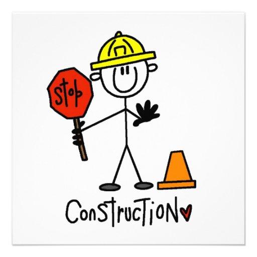 Construction Worker Stick Figure Announcement